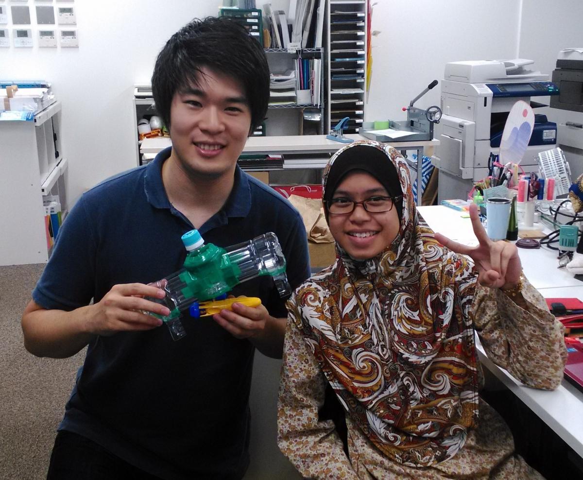 Working on English Pet bottle Submarine Workshop!