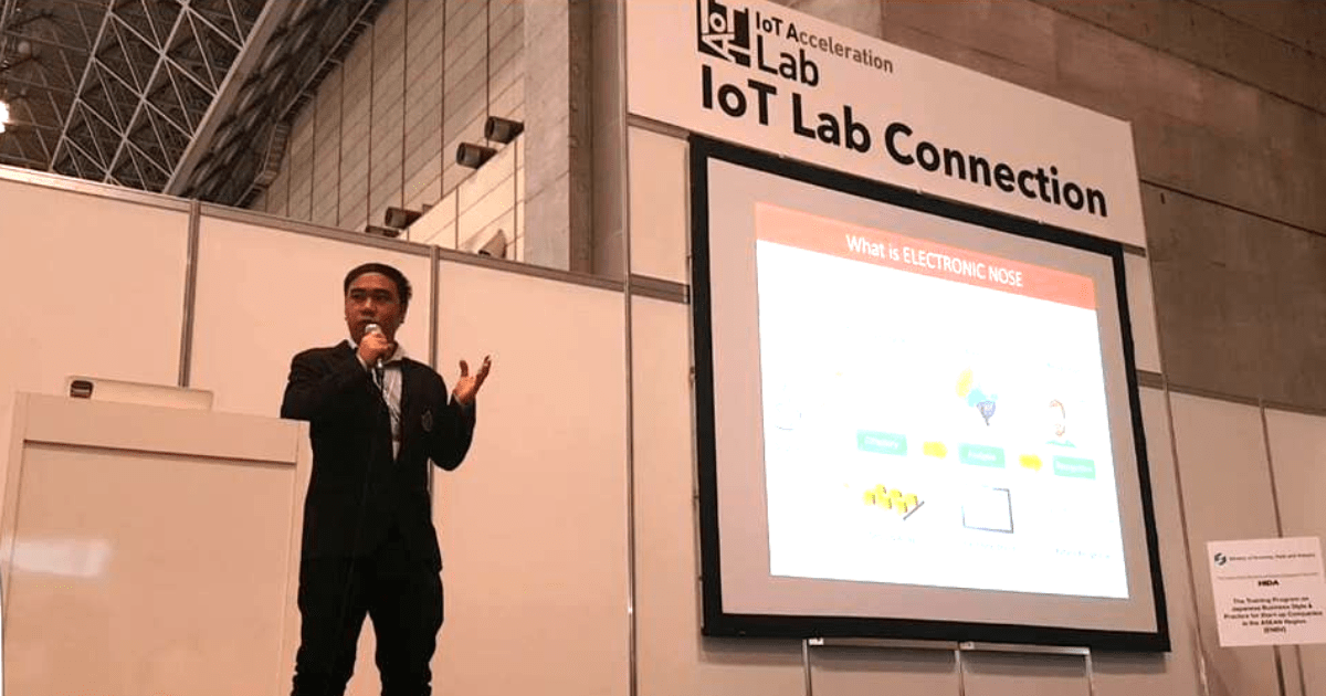 Electronic Nose Co. Ltd., one of the finalist teams in TECH PLANTER in Thailand in 2016, was selected for Global Connection by METI and CEATEC