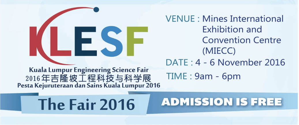 Come and join Our Science Workshop @ KLESF 2016