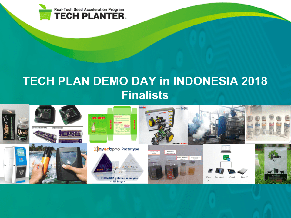 Here are the 12 finalists of TECH PLAN DEMO DAY in INDONESIA 2018. Congratulations!