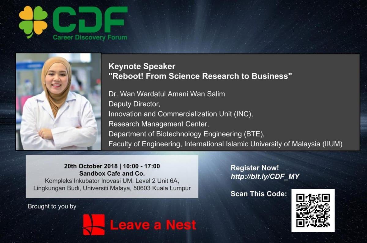 Announcing Speaker for The First Keynote Speech in Career Discovery Forum in Malaysia!