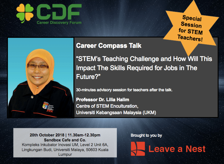 Exclusive Session for Educators in Career Discovery Forum in Malaysia 2018!