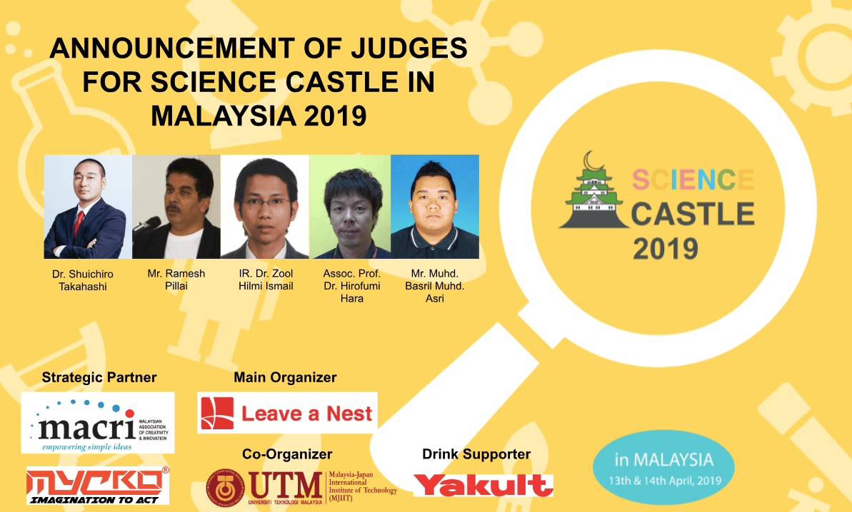 Judges for SCIENCE CASTLE in MALAYSIA 2019