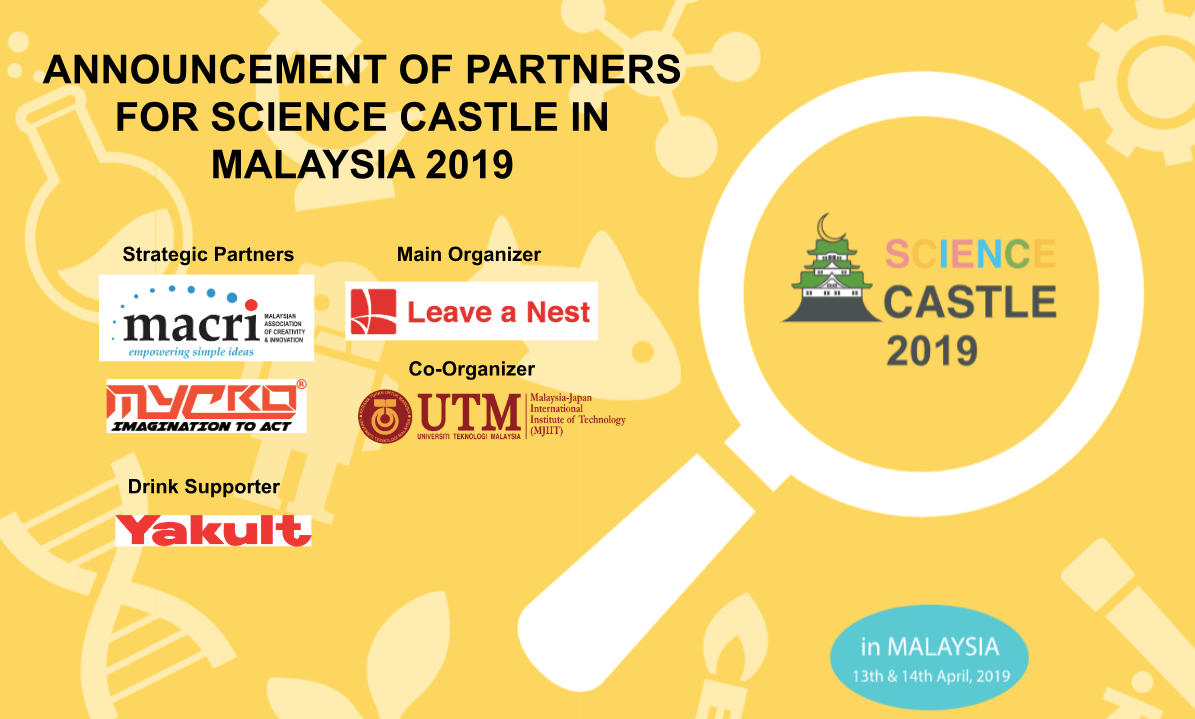 Conference Partners for SCIENCE CASTLE in MALAYSIA 2019