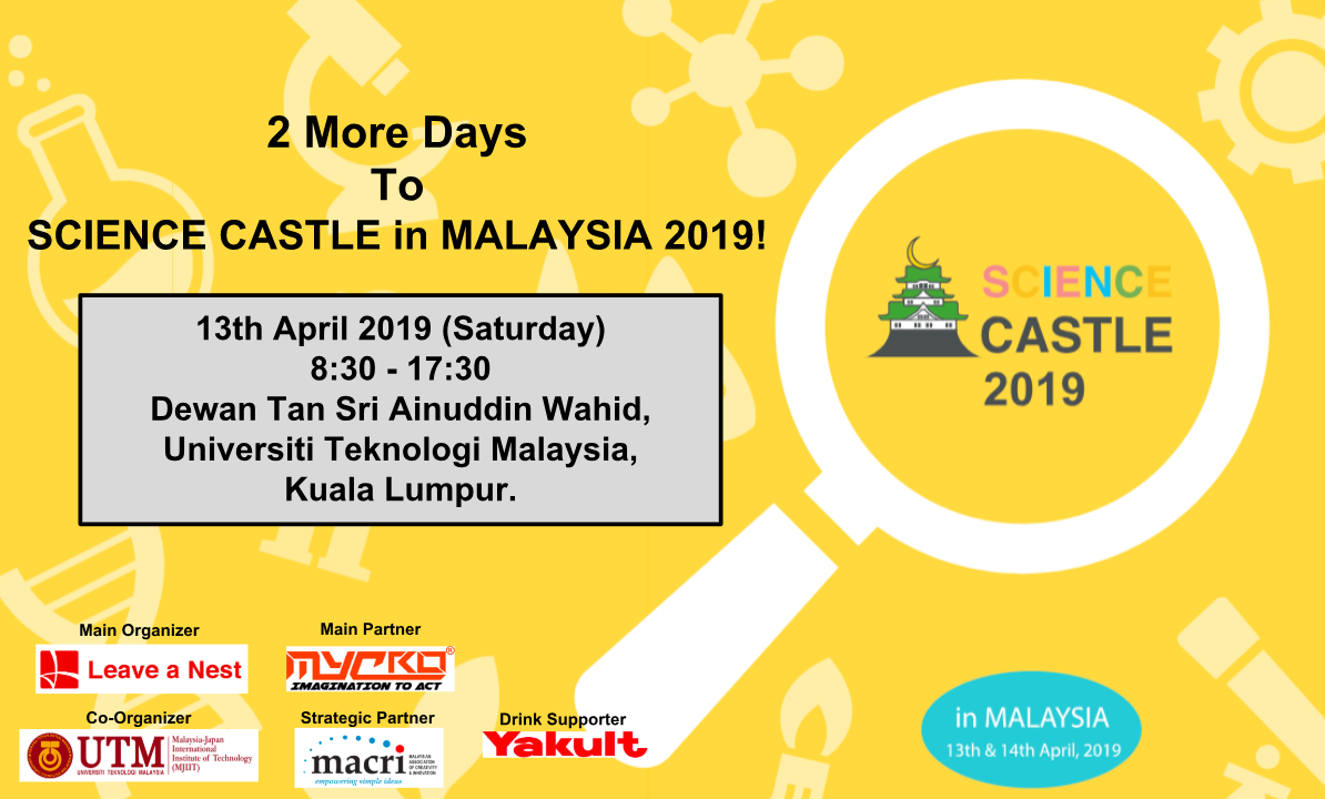 SCIENCE CASTLE in MALAYSIA 2019 Full Program