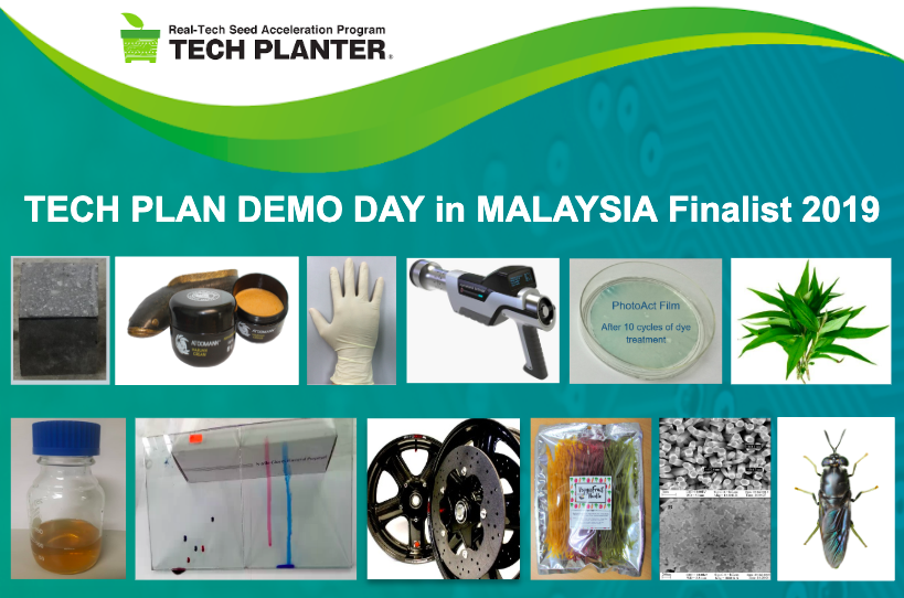 Announcement of 12 finalists for TECH PLANTER in Malaysia 2019
