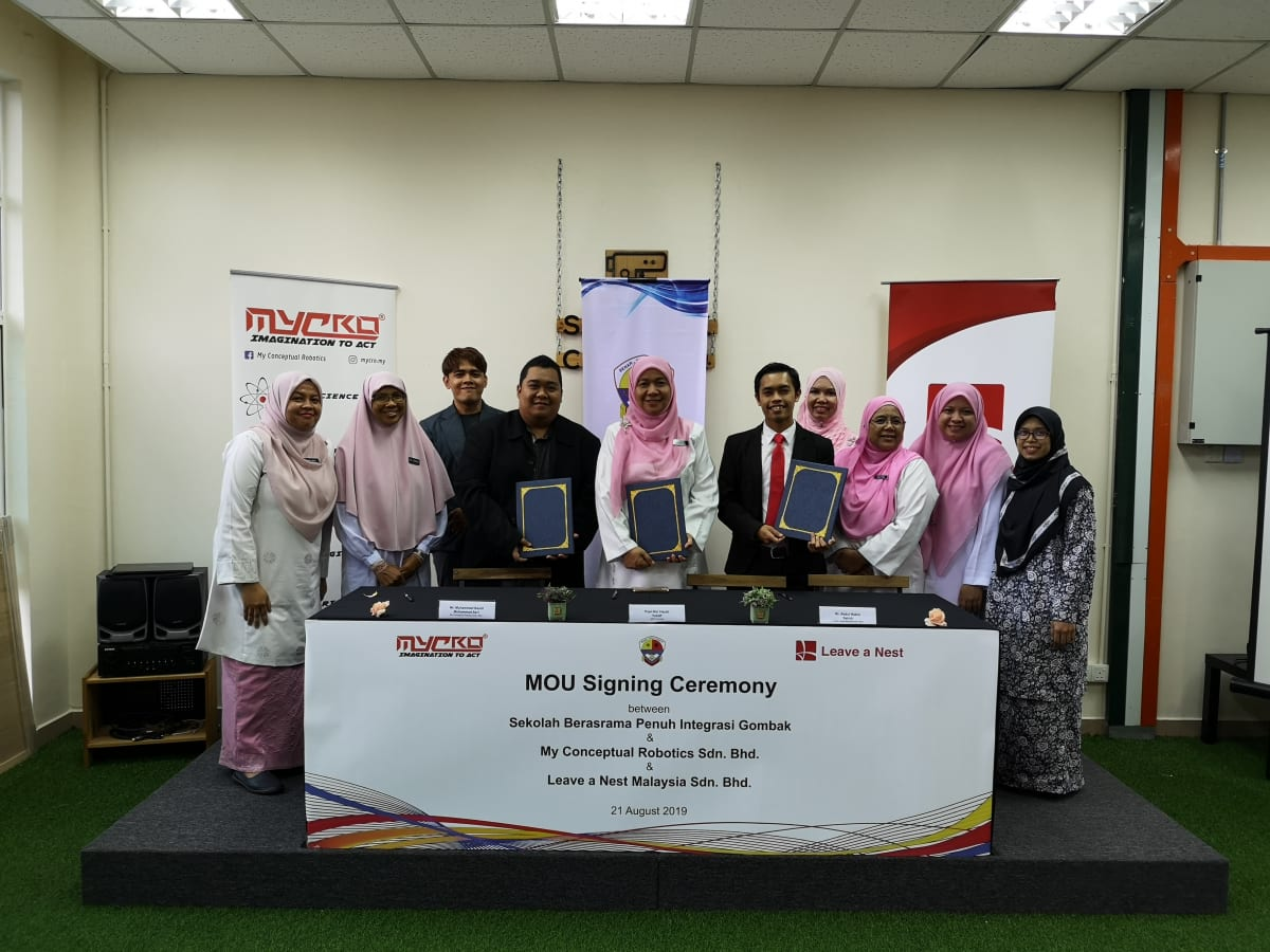 Leave a Nest Malaysia Sdn. Bhd. announced MoU Signing between SBPI Gombak and My Conceptual Robotics Sdn. Bhd.