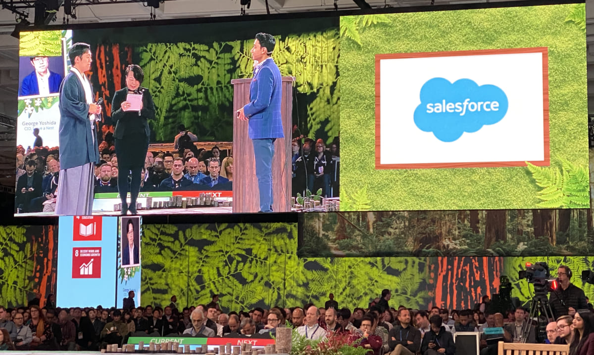 CIO George Yoshida presented at Salesforce's Dreamforce, the world's largest software conference