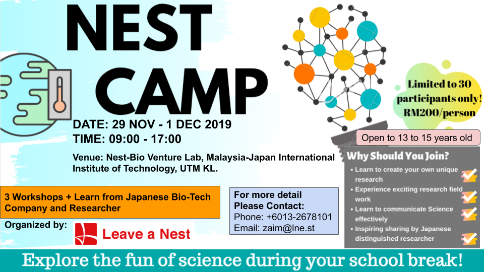 Let's Explore the fun of science during your school break by joining NEST CAMP!