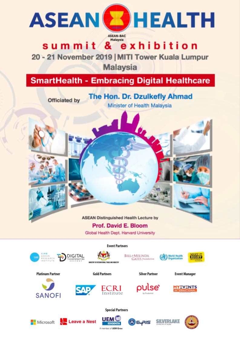 Meet Leave a Nest Malaysia Team at ASEAN HEALTH SUMMIT & EXHIBITION Malaysia 2019