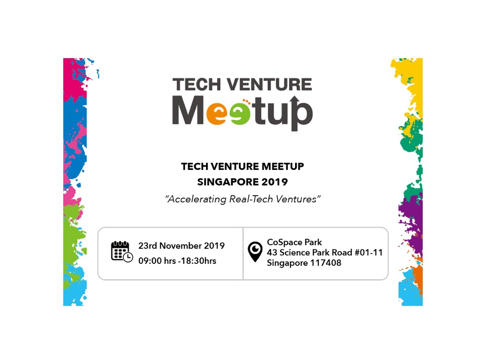 TECH VENTURE MEETUP in SINGAPORE 2019 Judges and Presenters Announcement