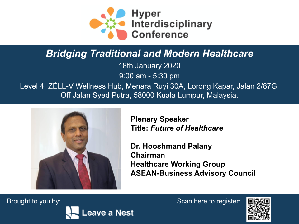 Announcing Plenary Speaker for Hyper Interdisciplinary Conference in Malaysia 2020