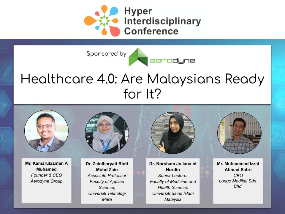 "Hyper Interdisciplinary Conference in Malaysia 2020:Panel Session 2 ""Session 2: Healthcare 4.0: Are Malaysians Ready for It?"" Panelist Announcement!"