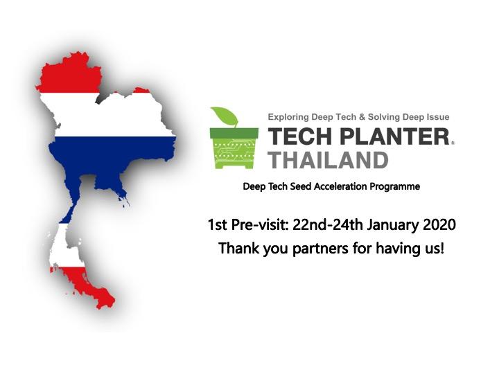 TECH PLANTER Programme THAILAND Round Previsit – Thank You Thailand Ecosystem Partners