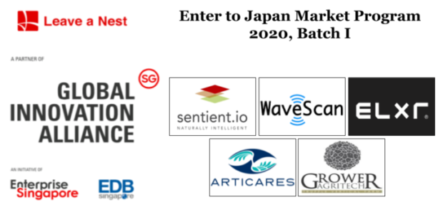 "Announcement: Five SG based Deep Tech startups selected for ""Enter to Japan Market Prog 2020"""