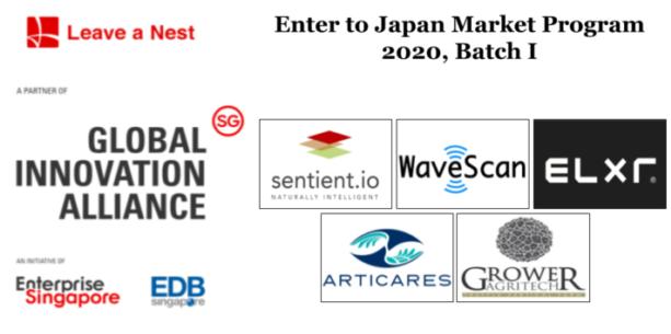 "Announcement: Five SG based Deep Tech startups selected for ""Enter to Japan Market Prog 2020"""