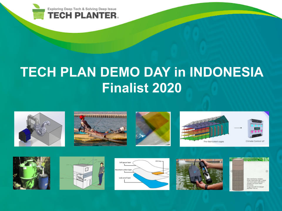 Announcement of 9 Finalists for TECH PLAN DEMO DAY in Indonesia 2020