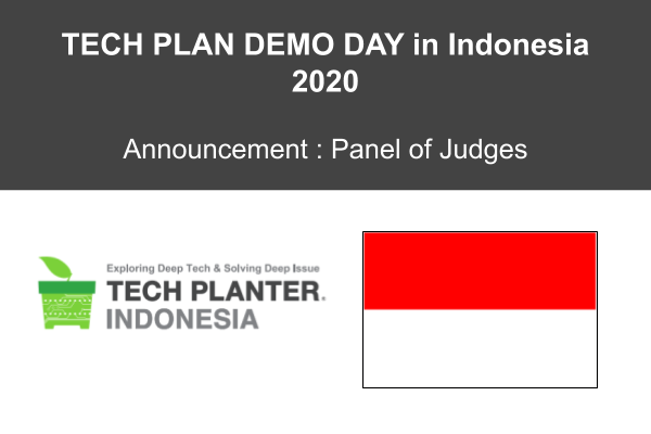 TECH PLAN DEMO DAY in INDONESIA 2020: Announcement of Judges