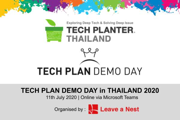 TECH PLAN DEMO DAY in THAILAND 2020 Will Be Happening on This Saturday Online!