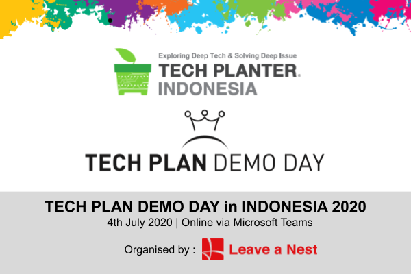 The First Online TECH PLAN DEMO DAY in INDONESIA 2020 Will Be Happening on This Weekend!