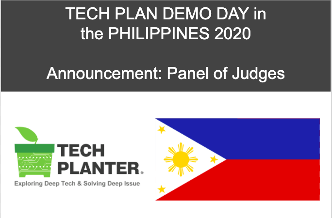 [Judges Announcement] TECH PLAN DEMO DAY in the PHILIPPINES 2020