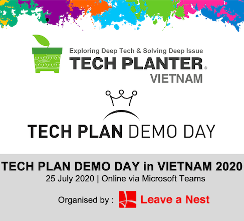 TECH PLAN DEMO DAY in VIETNAM 2020 Will Be Happening on This Saturday Online!