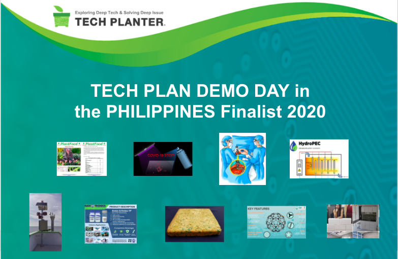 Announcement of 9 Finalists for TECH PLAN DEMO DAY in the PHILIPPINES 2020