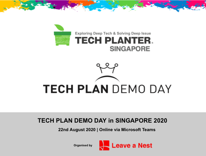 TECH PLAN DEMO DAY in Singapore 2020 Will Be Happening Online This Saturday!