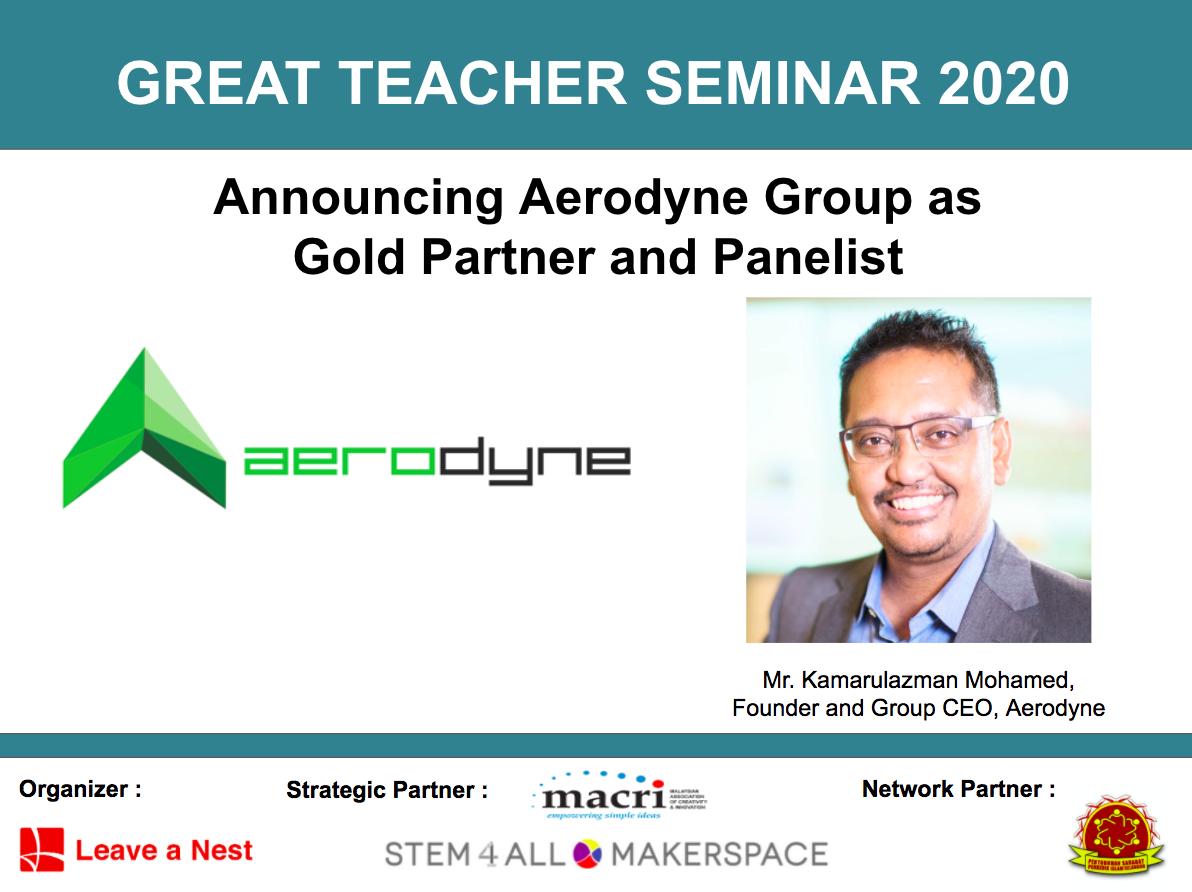 Announcing Aerodyne Group as Gold Partner in Great Teacher Seminar 2020