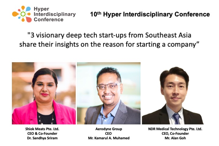 [10th Hyper Interdisciplinary Conference] Keynote speakers coming from prominent vision driven startups from Southeast Asia
