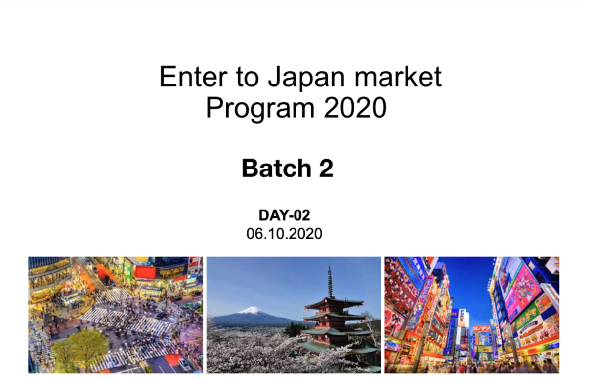 "Successful completion of "" Enter to Japan Market"" online workshops for GIA-ESG Batch 2"