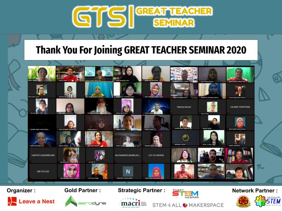 Thank You For Making GREAT TEACHER SEMINAR 2020 A Success!