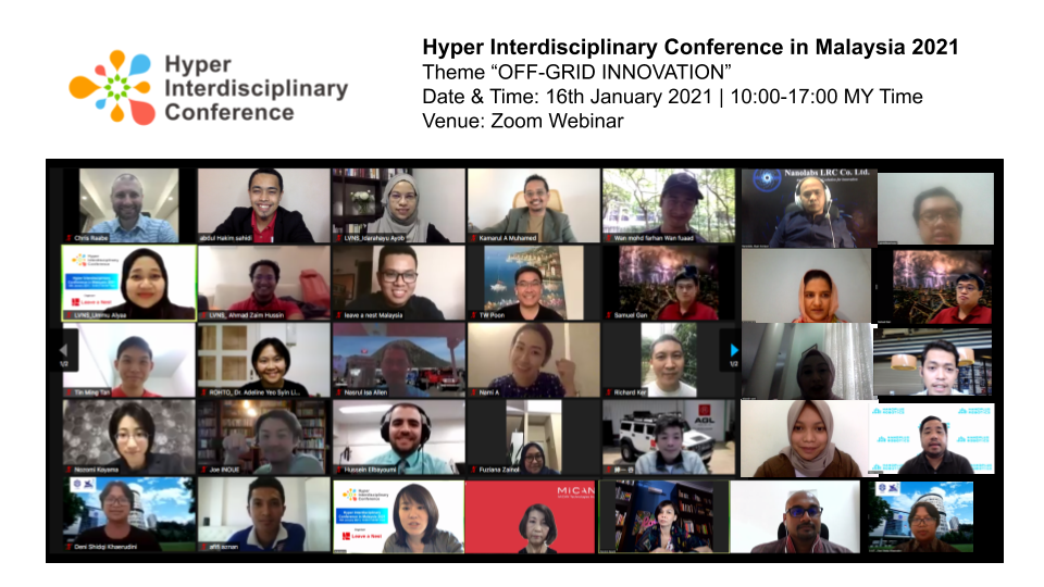Hyper-Interdisciplinary Conference in Malaysia 2021 Concluded. Thank You For Joining us!
