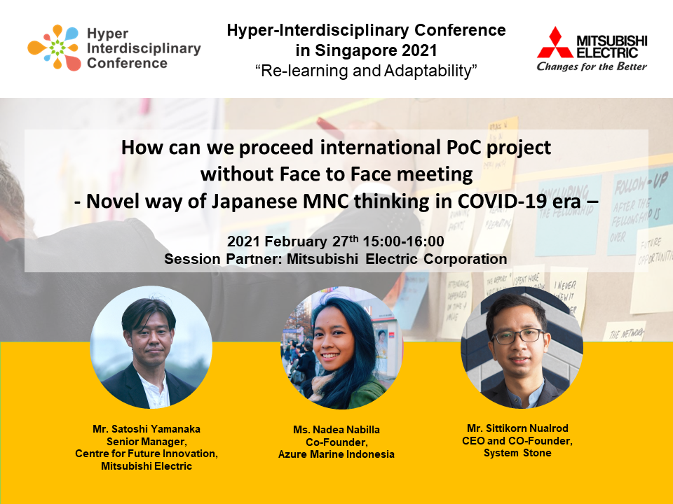 How can we proceed international PoC project without Face to Face meeting  – Novel way of Japanese MNC thinking in COVID-19 era –