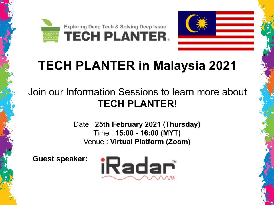 Join the 1st Information Session for TECH PLANTER in Malaysia 2021!