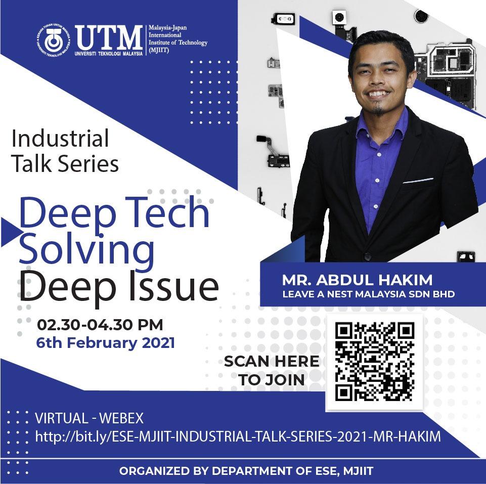 Talk by Managing Director of Leave a Nest Malaysia, Mr. Abdul Hakim Sahidi on 6th Feb 2021