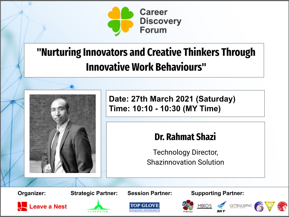 Career Discovery Forum in Malaysia 2021: Announcing The Keynote Speaker