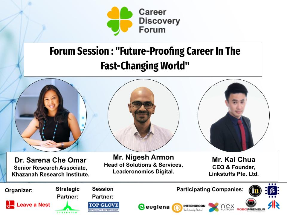 """Career Discovery Forum in Malaysia 2021: Forum Session """"Future-Proofing Career In The Fast-Changing World"""" Panelists Announcement!"""