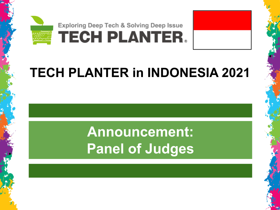 TECH PLAN DEMO DAY in Indonesia 2021 Judges Announcement