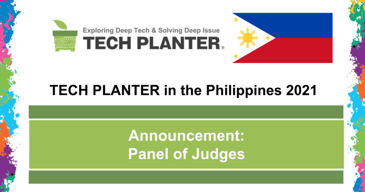 TECH PLAN DEMO DAY in the PHILIPPINES 2021 Judges Announcement (update as of April 21, 2021)