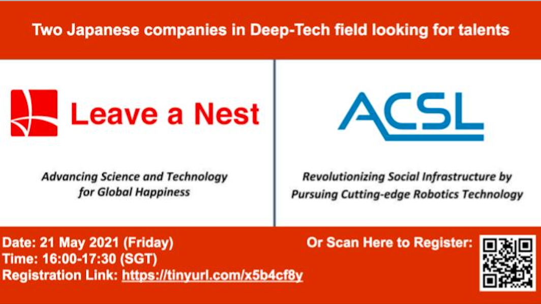 Career talk and workshop by Leave a Nest SG and ACSL
