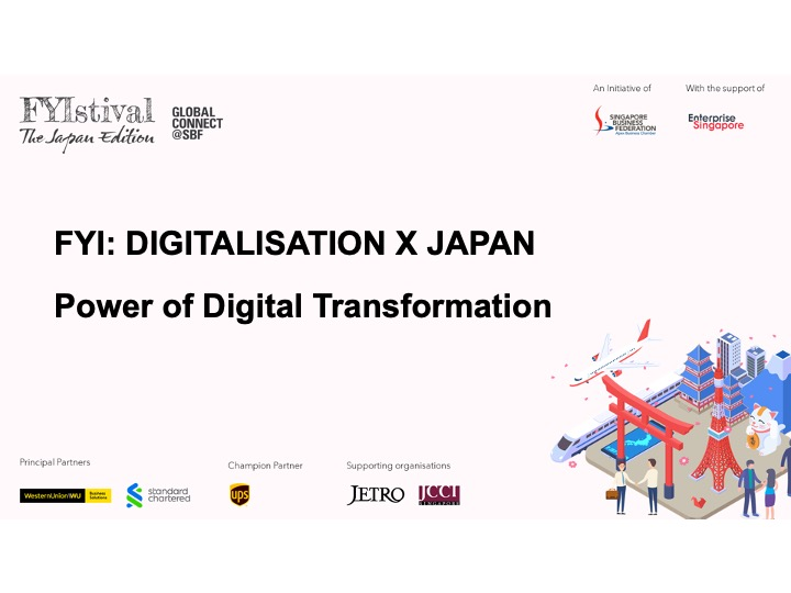 """Mr. Maekawa is invited as a guest speaker at """"FYIstival The Japan Edition: Power of Digital Transformation"""""""