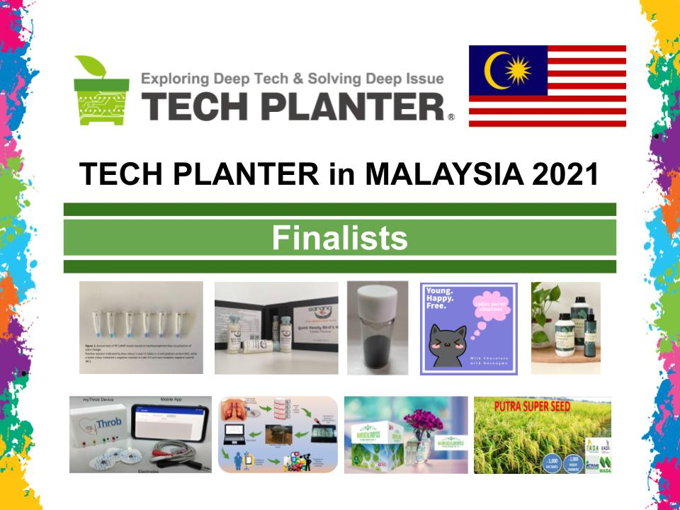 Announcement of 9 Finalists for TECH PLAN DEMO DAY in Malaysia 2021