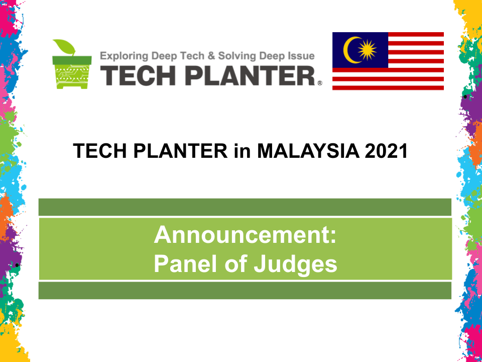 TECH PLAN DEMO DAY in MALAYSIA 2021 Judges Announcement