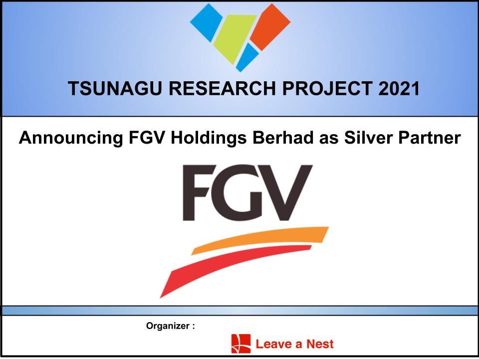 Announcing FGV Holdings Berhad as Silver Partner for TSUNAGU Research Project 2021