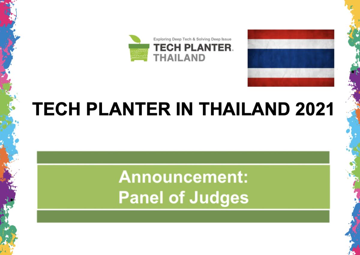TECH PLAN DEMO DAY in THAILAND 2021 Judges Announcement